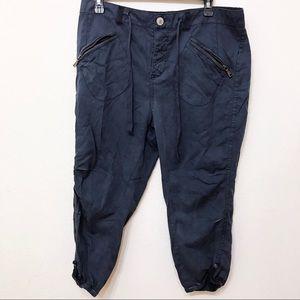 Free people Linen Cargo Capri pants